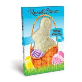 Russell Stover White Pastelle Easter Rabbit, 3 ()