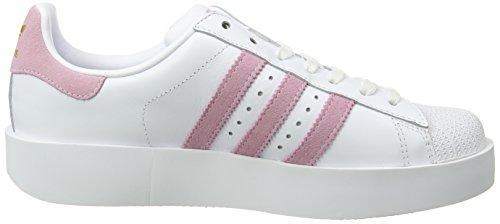 Adidas Damen Superstar Bold Sneaker Elfenbein (calzature Bianco / Lino Verde / Oro Metallizzato)