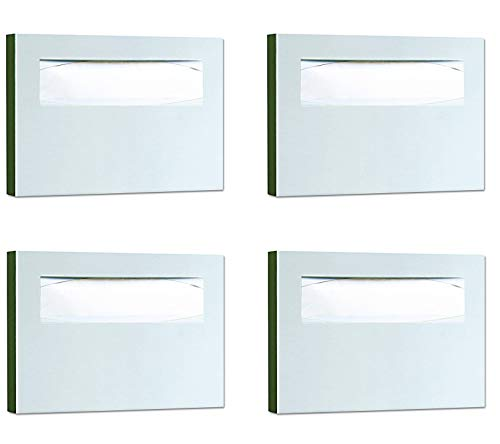 Bobrick 221 Stainless Steel Toilet Seat Cover Dispenser, 15 3/4 x 2 x 11, Satin Finish (Pack of 4) by Bobrick (Image #2)