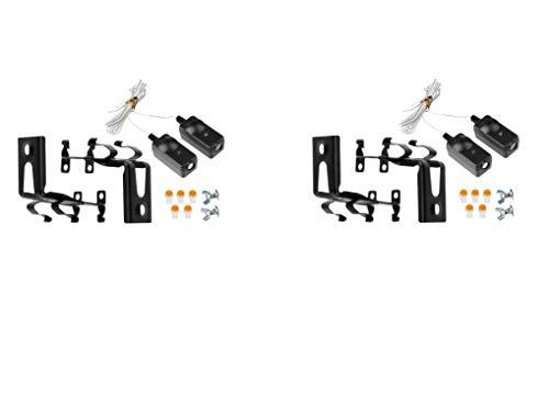Safety Sensor Eyes for 41A5034 G801CB-P Liftmaster Sears Chamberlain Craftsman Garage Door Opener w/Brackets (2 Kits)