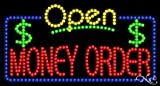 Money Order Open LED Sign (High Impact, Energy Efficient)
