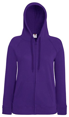 Fruit of the Loom - Sudadera - para mujer morado morado XL