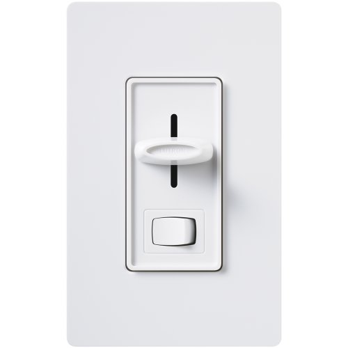 Dimmer Electronic - Lutron SELV-300P-WH Skylark Electronic Low-Voltage Single-Pole Dimmer, White