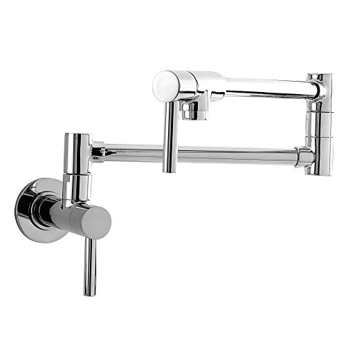 Newport Brass 9485 East Linear Double Handle Wall Mounted Pot Filler Faucet, Polished Chrome