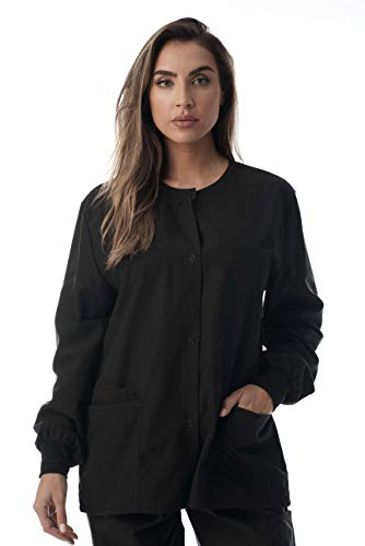 Just Love Womens Solid Medical Scrub Jacket 4501-BLK-3X for sale  Delivered anywhere in USA