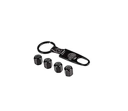 Ephvan Car Wheel Tire Valve Caps Tyre Stem Air Caps Keychain Combo Set /… for amg