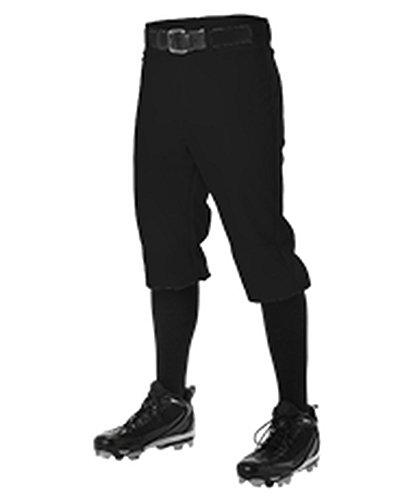 Adult Knickers - Alleson Adult Baseball Knicker Pant Black M 605PKN 605PKN-BK-M