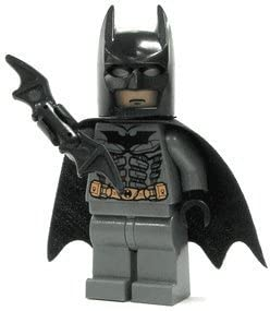 Batman (Dark Grey) - LEGO Batman Minifigure with Batarang by LEGO