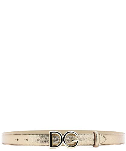 Dolce E Gabbana Women's Be1325az80887498 Gold Leather Belt