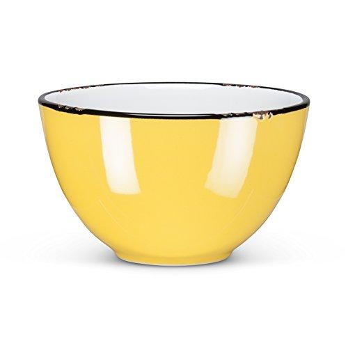 Abbott Collection Enamel Look Stoneware (Bowl Yellow Decorative)