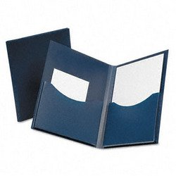 Gusseted Folder (Oxford Poly Double Stuff Gusseted 2-Pocket Folder, 200-Sheet Capacity, Navy (OXF57455))