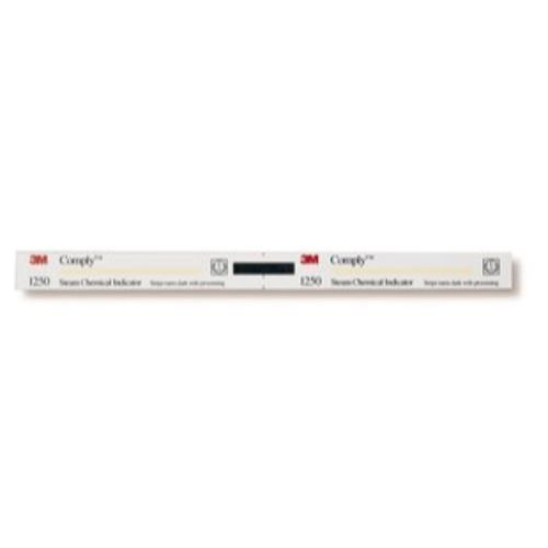 3M Health Care 1250 Comply Chemical Indicator Strip for Steam, Color Change from Yellow to Dark Brown/ Black, Perforated, 8-1/2'' L x 5/8'' W (Pack of 1920)