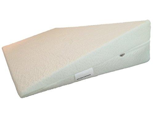 PROCAVE Bettkeil mit Bezug aus AloeVera-Doppeltuch | Breite: 90 cm x T: 45 cm x H: 15/1 cm | Made in Germany | keilförmiges Schaumstoffkissen für Betten und Wasserbetten