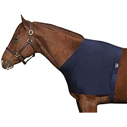 Roma Spandex Shoulder Guard - Navy, Pony