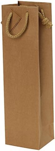 tastevin Tasche Kraftpapier mit Kordel und Karte 1Flasche–20PCS