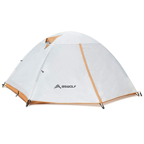 BISINNA 2 Person Camping Tent-Lightweight Backpacking Tents,Waterproof Windproof Two Doors Easy Setup Double Layer Outdoor Tent for Family,Camping, Hunting, Hiking, Mountaineering and Travel