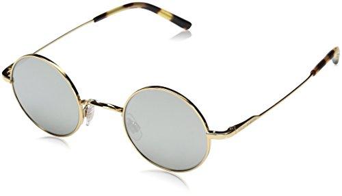 Dolce & Gabbana Men's Steel Man Round Sunglasses, Gold, 42 - Gabbana And Mirrored Sunglasses Dolce