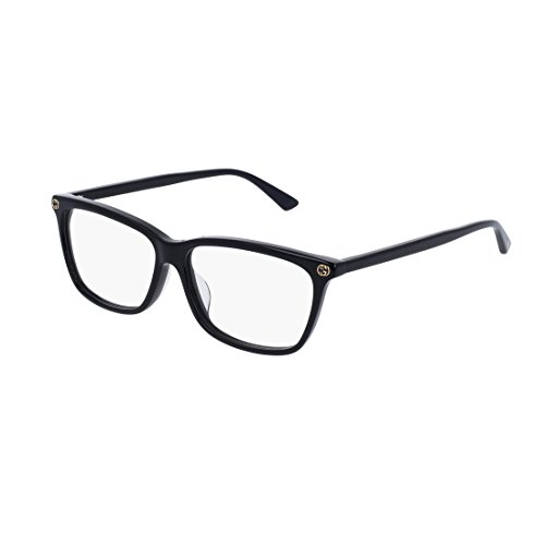 Gucci GG 0042OA 001 Asian Fit Black Plastic Cat-Eye Eyeglasses - Cat Asian Eye