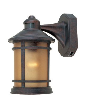 w/sunlit cpr 1 Light 7in. Cast Aluminum Wall Lantern with Motion Detector and Photocell Modes (Designers Fountain Motion Detector)