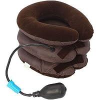 Aanvigya 3-Layers Portable Neck Pillow for Cervical Spine | Portable 3 Layer Neck Pillow Tractor Massager Exerciser Belt For Cervical Spine Neck Back Shoulder Pain