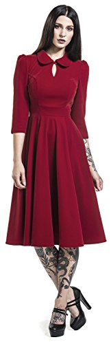 H rot Kleid Dreams Velvet Dress amp;R London Rot Tea Glamourous pwqnZapF