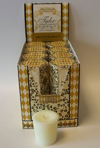 French Market Tyler Votive Candle Box of 16 by Tyler Candle