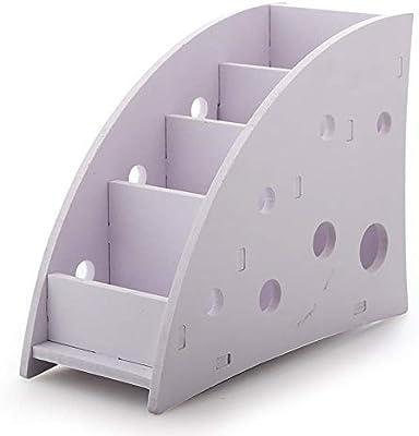 Caja de Almacenamiento ecológico plástico Madera TV Aire Acondicionado Soporte de Control Remoto Home Office Sundries almacén Caso de Mesa Organizador Organizador: Amazon.es: Hogar