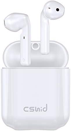 [해외]무선 이어버드 Cshidworld 블루투스 5.0 이어버드 소음 제거 무선 헤드폰 30H 사이클 재생 Hi-Fi APT-X CVC8.0 땀 방지 이어폰 충전 케이스 포함 인이어 헤드셋 / 무선 이어버드 Cshidworld 블루투스 5.0 이어버드 소음 제거 무선 헤드폰 30H 사이클...