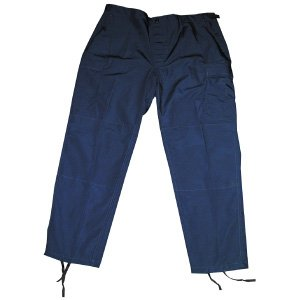 Navy Flight Deck - Propper Men's Bdu Trouser - Button Fly - 65/35 Ripstop, Dark Navy, Small Regular