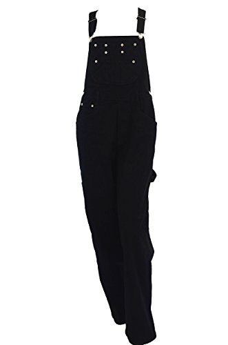 Women's EGLE jeans Black denim bib overalls Size Medium