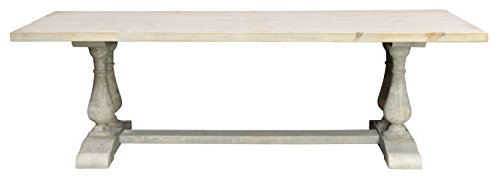 Dining Table Wash Wood (Kosas Home A51007015ELPZ Elodie Dining Table, Hand-Distressed Antique White Wash Finish)