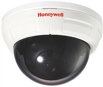 "Honeywell Video HD40P 1/3"" CCD Standard Resolution Color Indoor Fixed Mini-Dome Camera, 420 TVL, 3.8 mm Lens, 12 VDC, NTSC"