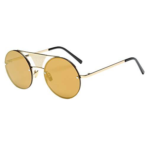 Quelife Fashion Men Women Steampunk Round Mirror Sunglasses Unisex Glasses F