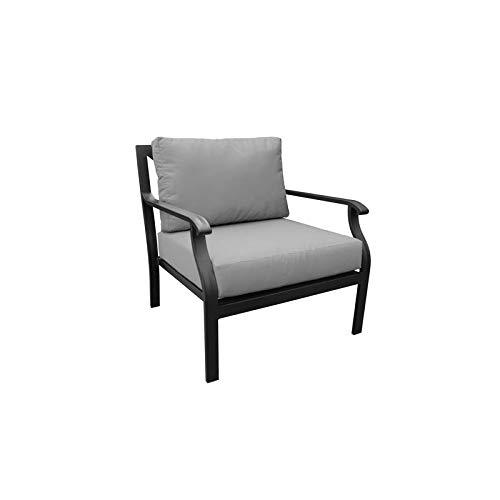 TK Classics Kathy Ireland Madison Ave. Club Chair in Grey