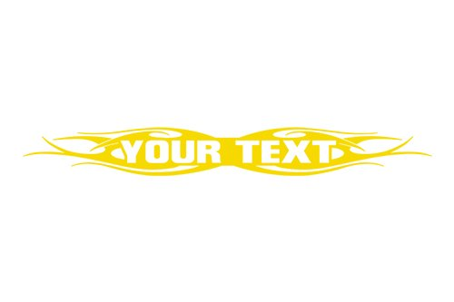 Sticky Creations - Design #115 Your Custom Text Personalized Customized Lettering Tribal Flame Windshield Decal Sticker Vinyl Graphic Rear Window Banner Car Truck SUV | 36