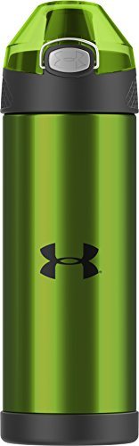 Under Armour Beyond 16 Ounce Vacuum Insulated Bottle with Flip Top Lid, Hyper Green