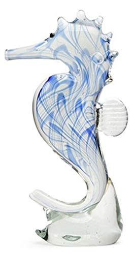Dynasty Gallery - Glass Figurine - Seahorse - Blue Glow