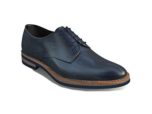 Dis - Oriana – Zapato Derby Liso – Mujer Azul