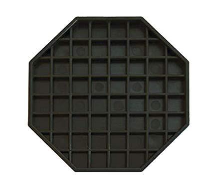 Table Tray Drip (Update International (DT-6X6) Octagonal Plastic Drip Tray)