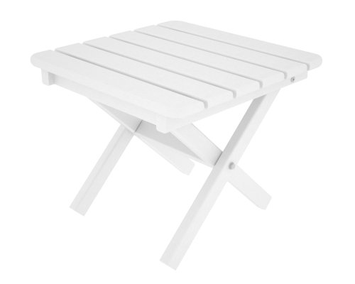 POLYWOOD ST1818WH Square 18 Side Table, White
