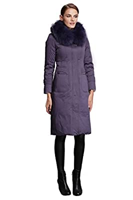 Fast Sister Women's Stylish Goose Down Jackets Thickened Down Coats Parka -XS Blue