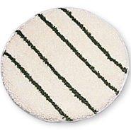 """Rubbermaid P269 Low Profile Scrub-Strip Carpet Bonnet, 19"""" Diameter, White/Green, 5/Carton"""