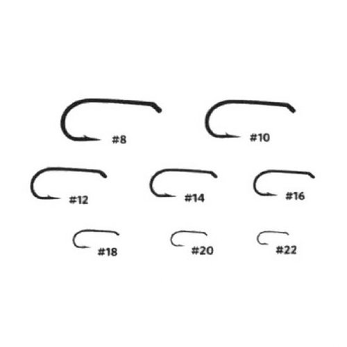 Umpqua Fly Tying Hooks U002 50Pk 18 Dry Fly Hook Standard Wire Down Eye
