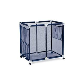 Modern Blue Pool Storage Bin   Extra Large | Perfect Contemporary Nylon Mesh  Basket Organizer For