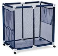 Amazon Com Modern Blue Pool Storage Bin Extra Large Perfect Contemporary Nylon Mesh Basket Organizer For Your Goggles Beach Balls Floats Swim Toys Accessories Air Dry Items Quickly