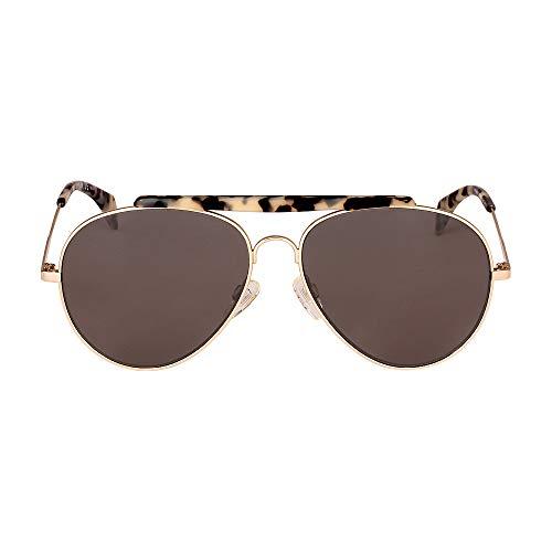 Tommy Hilfiger Th1454s Aviator Sunglasses, LGH GOLD, 58 mm
