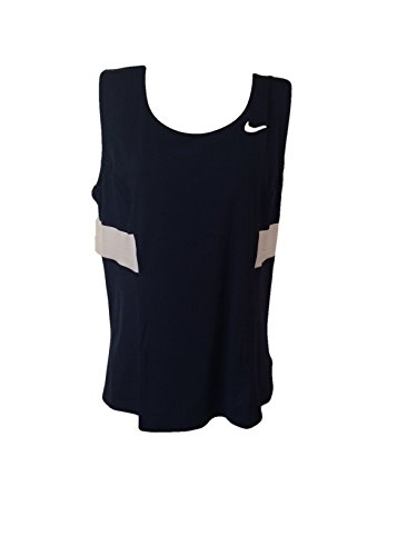 Nike Womens Team Power Tank - Tennis Top (LG Apparel, anthracite/Cyber/(Reflective Silver))