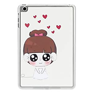 hao Happy Bride Pattern PC Hard Case with Transparent Frame for iPad mini