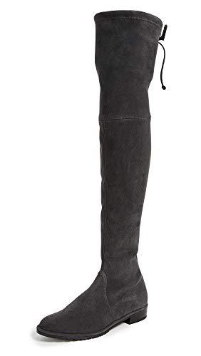Stuart Weitzman Women's Lowland Over The Knee Boots, Asphalt, Grey, 8.5 M US