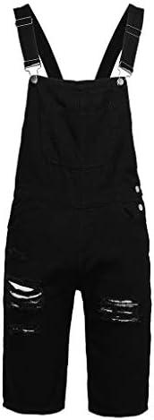 [해외]남성용 턱받이 전체 반바지 경량 캐주얼 루즈 데님 점퍼수트 롬퍼 여름 운동 서스펜더 바지 액티브웨어 3xl / Mens Bib Overall Shorts Lightweight Casual Loose Denim Jumpersuit Romper Summer Workout Suspender Pants Activewear (Black, 3XL)